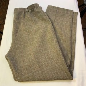 Vintage Alfred Dunner Size 8 Brown Plaid Pants